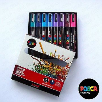 POSCA Art Paint Markers - PC-5M Full Spectrum Set of 16 - In 2 Gift Boxes